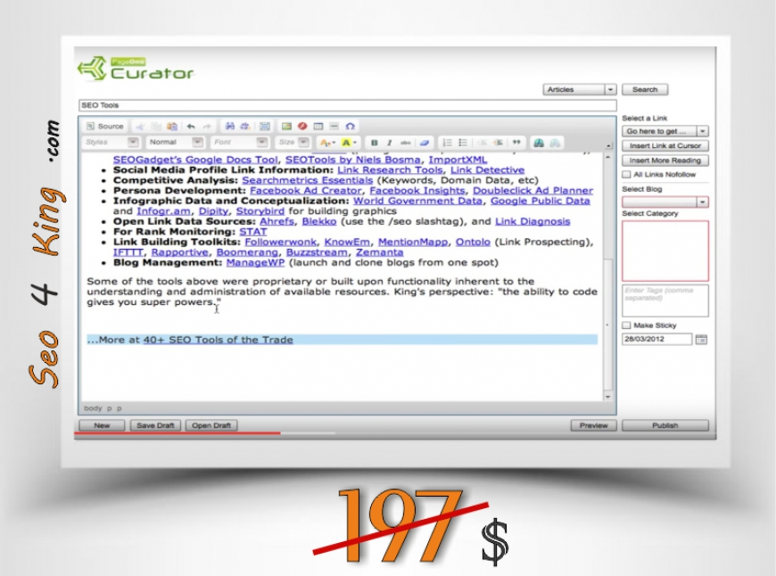 PageOne Curator 1.3.7