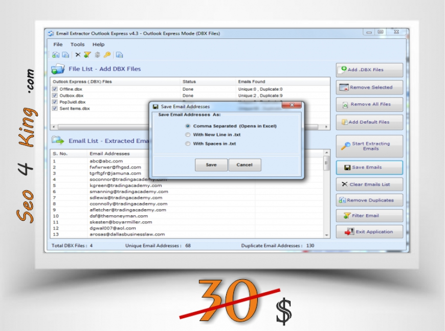 Email Extractor Outlook Express 4.3